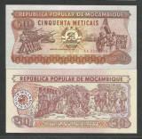 MOZAMBIC / MOZAMBIQUE 50 METICAIS 1986 UNC [1] P-129b , necirculata