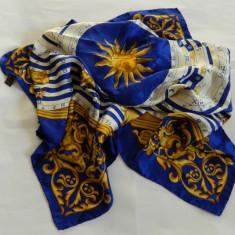 ESARFA 100% MATASE albastra ZODIAC - Esarfa, Sal Dama, Culoare: Albastru, Marime: Marime universala