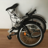 Bicicleta pliabila Hervis, 15.5 inch, 20 inch, Numar viteze: 7