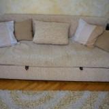 Set canapea extensibila si 2 fotolii fixe sufragerie / living