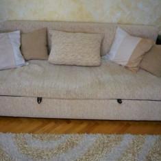 Set canapea extensibila si 2 fotolii fixe sufragerie / living, Canapele extensibile