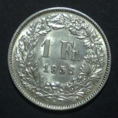 Elvetia 1 franc 1958 aUNC Argint, Europa
