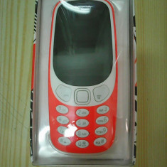 TELEFON MOBIL Nokia 3310 UN SINGUR SIM GARANTIE 2 ANI - Telefon Nokia, Portocaliu, 32GB, Orange, Fara procesor, 128 MB