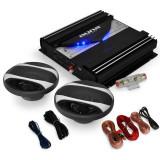 "Set HIFI auto ""Black Line 200 'amplificator 1400W - Pachete car audio auto Auna"