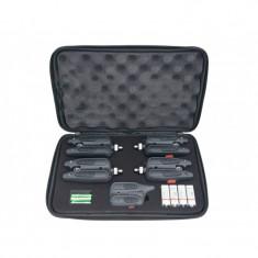 RF1118 - Set cu 4 avertizoare wireless + receptor Baracuda - Avertizor pescuit Baracuda, Hanger