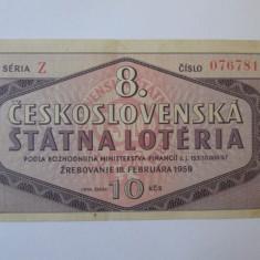 Rar! Bilet loteria Cehoslovacia 1959
