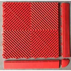 Pardoseala PP modulara Fonner Vents Flame Red