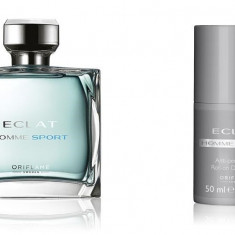 Set Eclat Homme Sport - Parfum 75 ml, Roll-on 50 ml, Punga - Oriflame - Nou - Set parfum