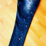 BLUGI DAMA SUPER MODEL CALITATE GARANTATA/ACCESORIU METALIC INCLUS, Marime: S, Culoare: Albastru
