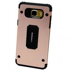Capac de protectie Motomo Armor pentru Samsung Galaxy A5 (2017) / A520, TPU moale si aluminiu, rose gold