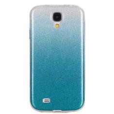 Capac de protectie Glitter TPU pentru Samsung Galaxy S4, albastru