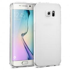Capac de protectie din TPU subtire (0.3 mm) pentru Samsung Galaxy S6 Edge Plus, alb transparent - Husa Telefon