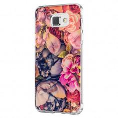 Husa Silicon, Ultra Slim 0.3MM, Floral, Samsung Galaxy A3 2017