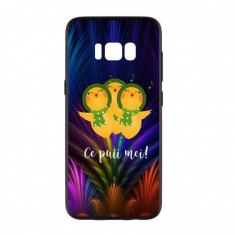 Capac de protectie pentru Samsung Galaxy S8, TPU moale imprimat in relief, model CPM