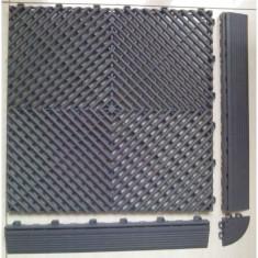 Pardoseala PP modulara Fonner Vents Carbon Grey