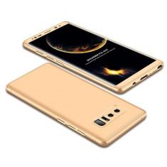 Husa Full Cover 360° (fata + spate) pentru Samsung Galaxy Note 8, auriu