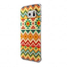 Husa Silicon, Ultra Slim 0.3MM, Aztec, Samsung Galaxy S6 Edge - Husa Telefon