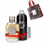 Set Barbati Flamboyant - Parfum 75 ml, Spray corp 150 ml, Punga - Oriflame - Nou