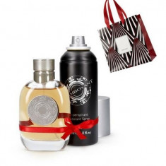 Set Barbati Flamboyant - Parfum 75 ml, Spray corp 150 ml, Punga - Oriflame - Nou - Set parfum