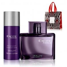 Set Barbati Excite Force - Parfum 75 ml, Spray corp 150 ml, Punga - Oriflame - Set parfum