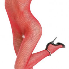 Catsuit Plasa Rosu - Lenjerie sexy femei, S