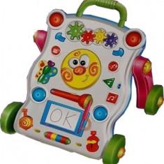Premergator cu 12 melodii si jucarii interactive detasabile Learning Handcart® HAPPY, Antepremergator cu lumini, Multicolor