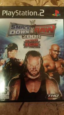 vand joc playstation 2 , ps2 ,  SMACK DOWN vs RAW 2008 , WRESTLING foto