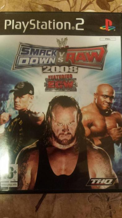 vand joc playstation 2 , ps2 ,  SMACK DOWN vs RAW 2008 , WRESTLING