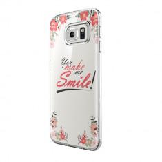 Husa Silicon, Ultra Slim 0.3MM, Smile, Samsung Galaxy S6 Edge - Husa Telefon