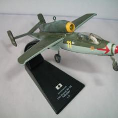 Macheta avion Heinkel He 162 Volksjager - Deutschland - 1945 scara 1:72 - Macheta Aeromodel