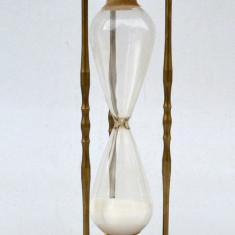 Clepsidra mare, cu nisip, 32 de minute, veche, inceput de secol XX - alama