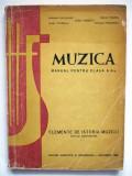 MUZICA  , MANUAL PENTRU CLASA a X-a  , 1966  !