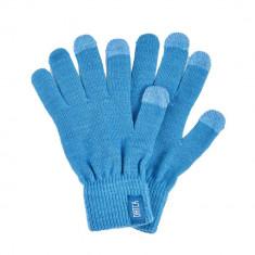 Manusi touchscreen bleu