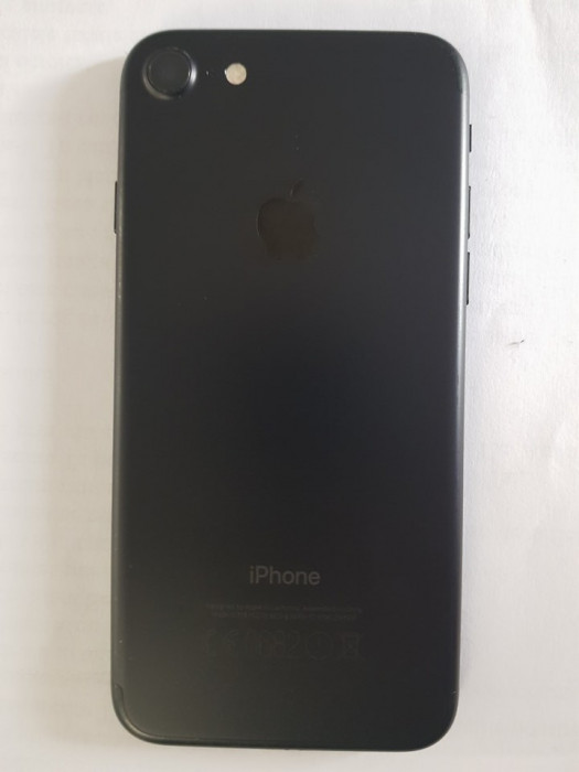 IPhone 7, Black Mate 256 GB, NEVERLOCKED, husa, folie, adaptor foto mare