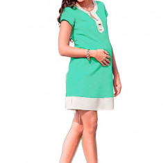 Rochie verde-deschis - Rochie gravide