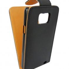 Husa flip Sligo GreenGo neagra pentru Samsung Galaxy S2 i9100 - Husa Telefon