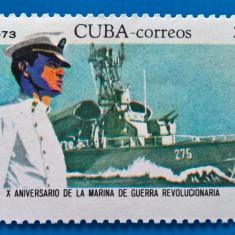 Cuba-Marina de razboi-nestamp- -MNH - Timbre straine, Stampilat