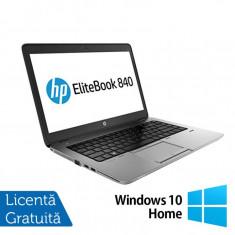 Laptop Refurbished HP ProBook 840 G1, Intel Core i5-4300U 1.90GHz, 8GB DDR3, 128GB SSD, Webcam, 14 inch + Windows 10 Home