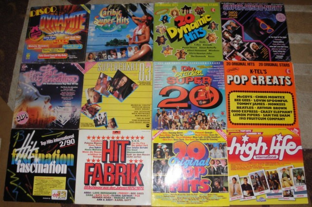 150 vinyl/viniluri selectii,compilatii Al Bano,Aretha Franklin,Blondie,Baez