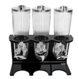 Trei dispensere fulgi de porumb pe un suport acrilic negru MN0136597 Raki - Pantaloni dama