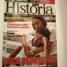 Revista Historia nr. 107 noiembrie 2010 Nicu Ceausescu singurul interviu acordat - Revista culturale