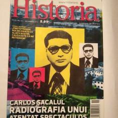 Revista Historia nr. 131 decembrie 2012, Carlos Sacalul Radiografia unui atentat - Revista culturale