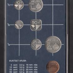 Set Monetarie Aruba 1986 1 5 10 25 50 2, 5, America de Nord