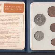 Set Monetarie Anglia subdiviziunile lirei 1 2 5 10, Europa