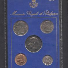 Set Monetarie Belgia 1974 1 5 10 25 50, Europa
