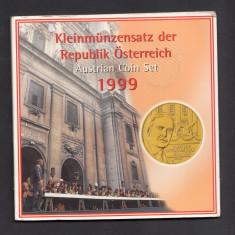 Set Monetarie Austria 1999 1 5 10 20 50, Europa