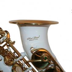 Saxofon Sopran curbat Karl Glaser ALB+AURIU NOU Sopranina Si b
