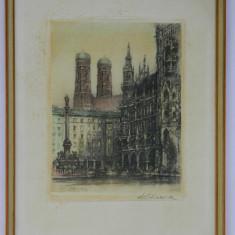Litografie cu semnatura originala a artistului / tablou