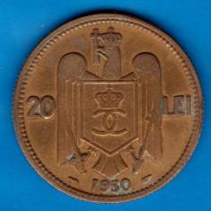 (MR42) MONEDA ROMANIA - 20 LEI 1930 PARIS, REGELE CAROL II