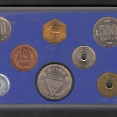 Set Monetarie Japonia 1985 1 10 50 100 500, Asia